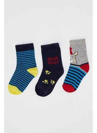 DeFacto Erkek Bebek 3'lü Çorap Set Renkli
